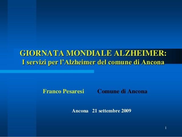 I servizi per l'Alzheimer del comune di Ancona