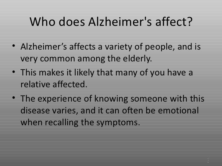 a description of the alzheimers disease as a progressive and irreversible brain disease Alzheimer disease, degenerative brain disorder that develops in mid-to-late  adulthood it results in a progressive and irreversible decline in.