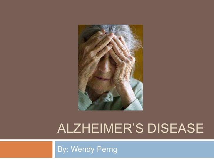 Alzheimer'S Disease Powerpoint Perng Wendy