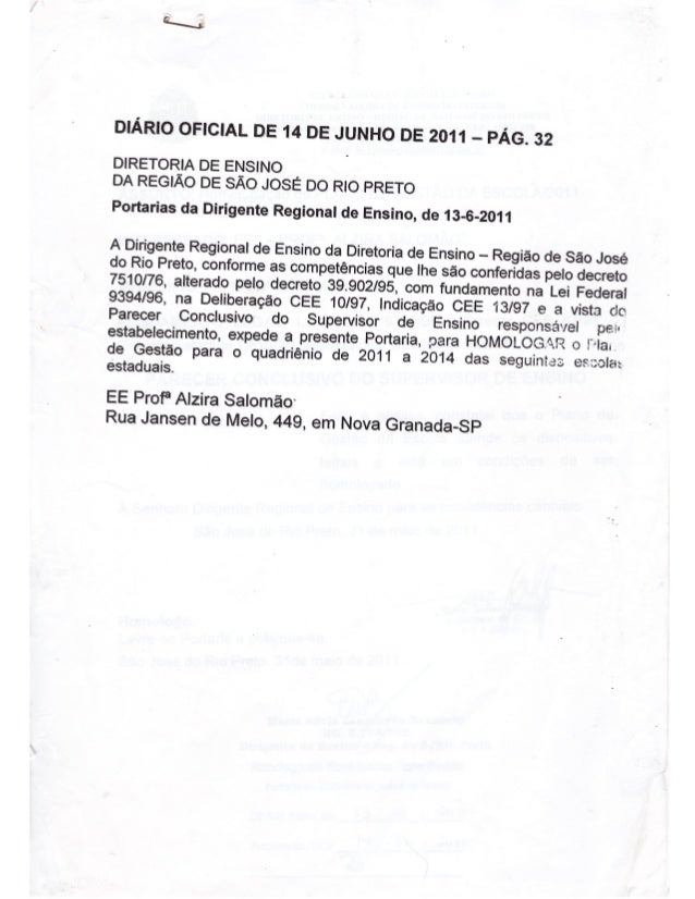 Plano Gestão EE Profa Alzira Salomão
