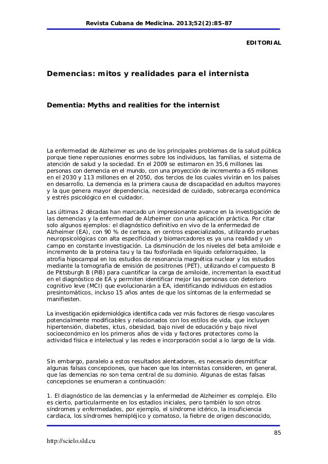 Alzheimers Report in Spanish