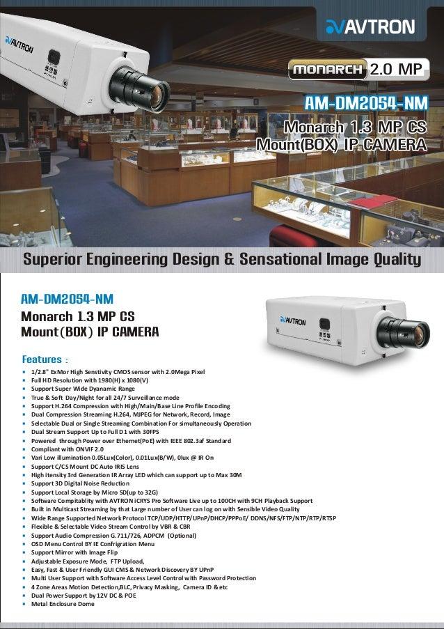 Am dm2054-nm mount Avtron box ip camera