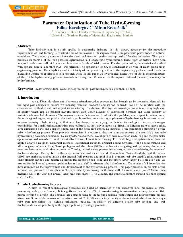 I nternational Journal Of Computational Engineering Research (ijceronline.com) Vol. 2 Issue. 8                      Parame...