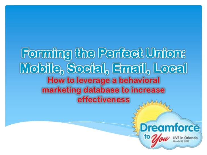 DF2UFL 2012: Forming the Perfect Union - Mobile, Social, Email, Local