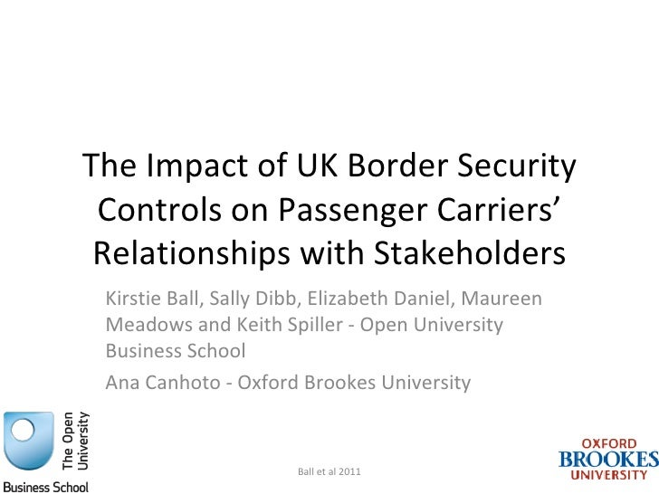 AN N U AL C O N FEREN C E 201 1                                         Special SessionsThe Impact of UK Border Security C...