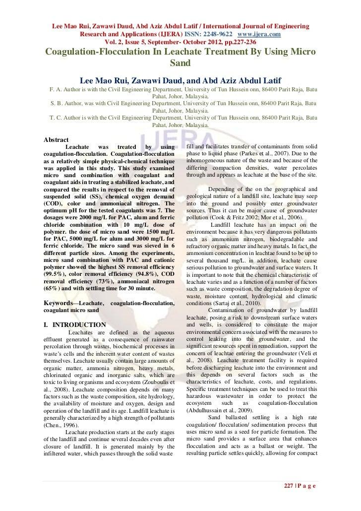 Lee Mao Rui, Zawawi Daud, Abd Aziz Abdul Latif / International Journal of Engineering           Research and Applications ...
