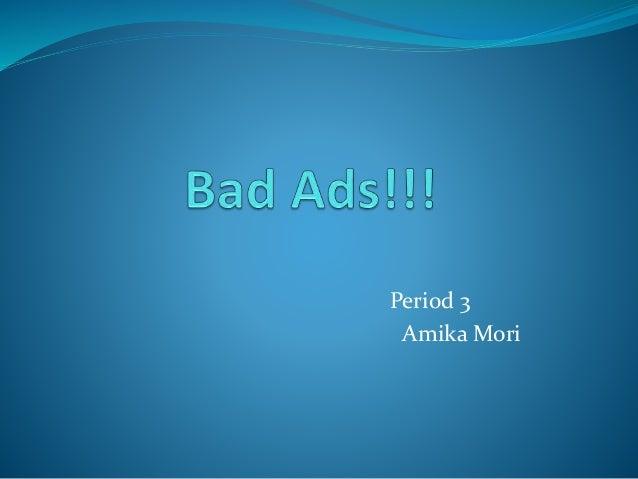 Period 3 Amika Mori