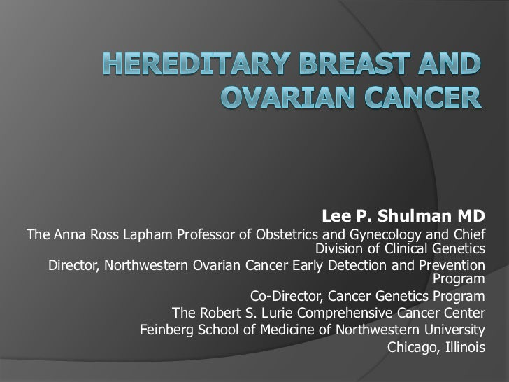 Lee P. Shulman MDThe Anna Ross Lapham Professor of Obstetrics and Gynecology and Chief                                    ...