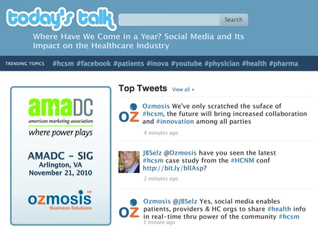 AMA-DC Social Media Impact on Healthcare