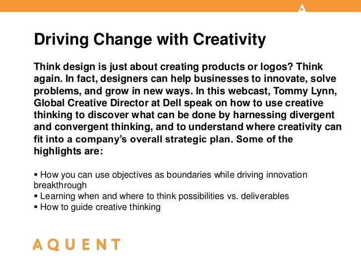 Aquent/AMA Webcast: Driving Change with Creativity