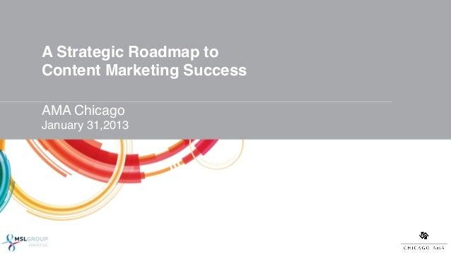 A Strategic Roadmap to Content Marketing Success