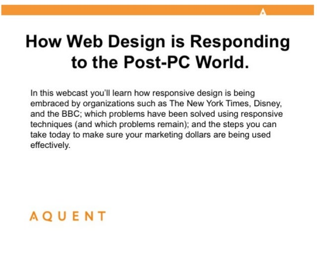 AMA/Aquent Webcast: How Web Design is Responding to the Post-PC World