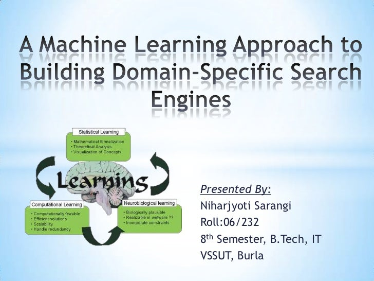 A machine learning approach to building domain specific search
