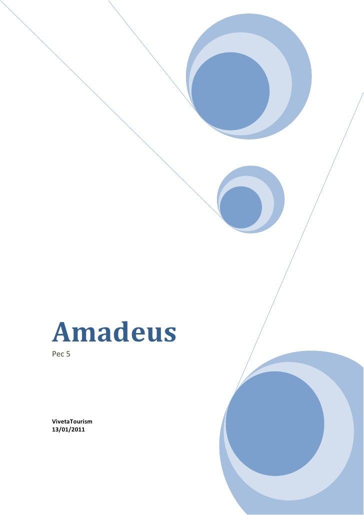 AmadeusPec 5VivetaTourism13/01/2011