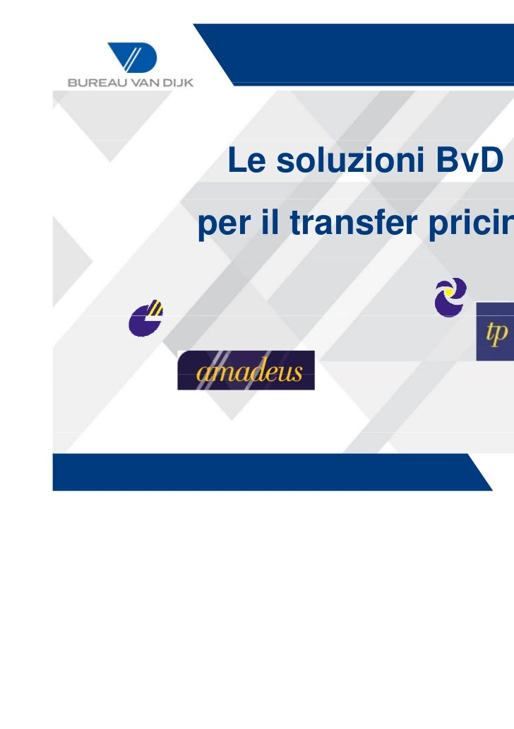 Amadeus Transfer pricing