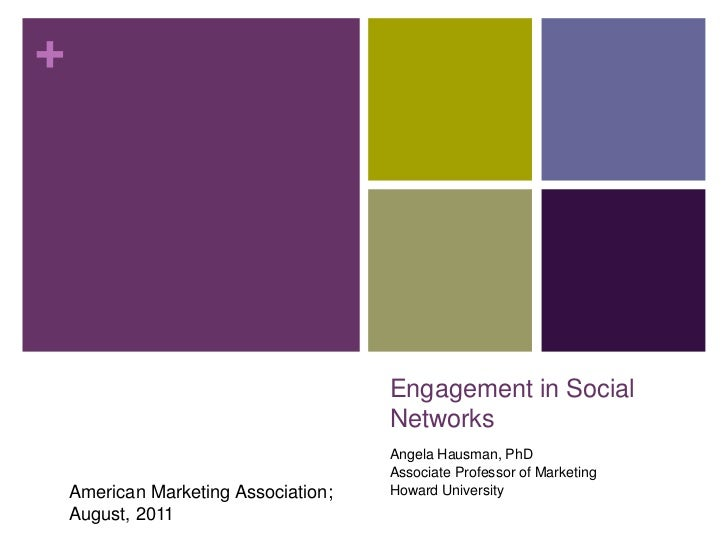 Engagement in Social Networks<br />Angela Hausman, PhD<br />Associate Professor of Marketing<br />Howard University<br />A...