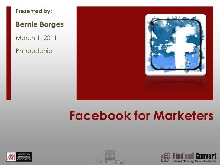 AMA Facebook for Marketers 3-1-2011