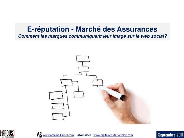 E-réputation - Marché des AssurancesComment les marques communiquent leur image sur le web social?          www.amalbelkam...