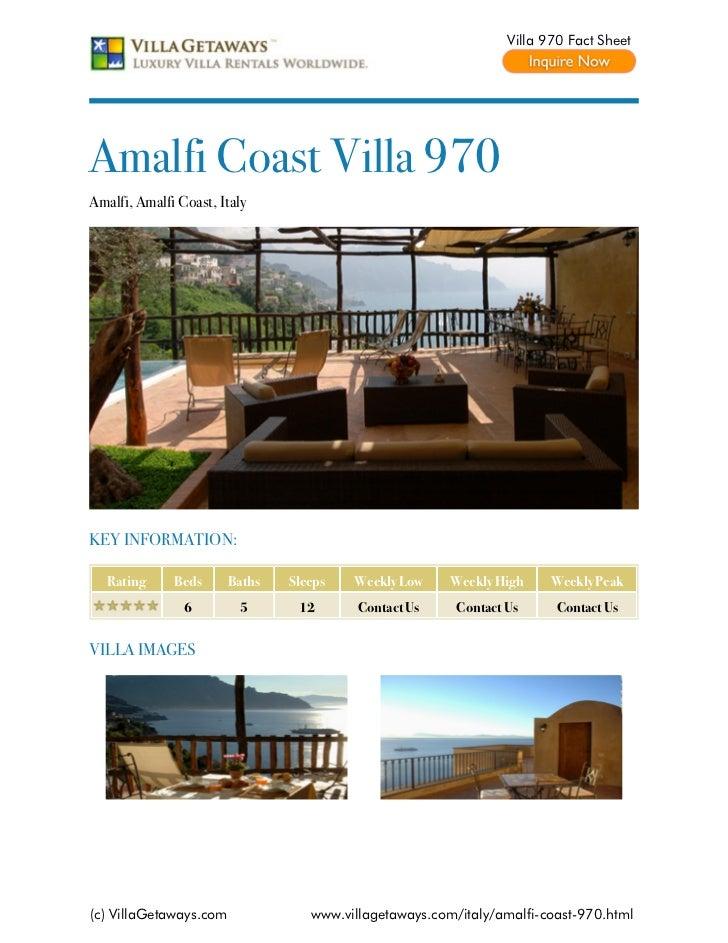 Amalfi coast villa 970,italy