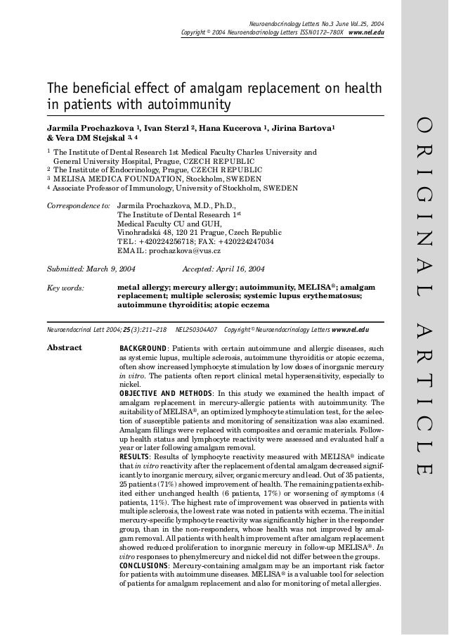 Neuroendocrinology Letters No.3 June Vol.25, 2004 Copyright © 2004 Neuroendocrinology Letters ISSN 0172–780X www.nel.edu  ...