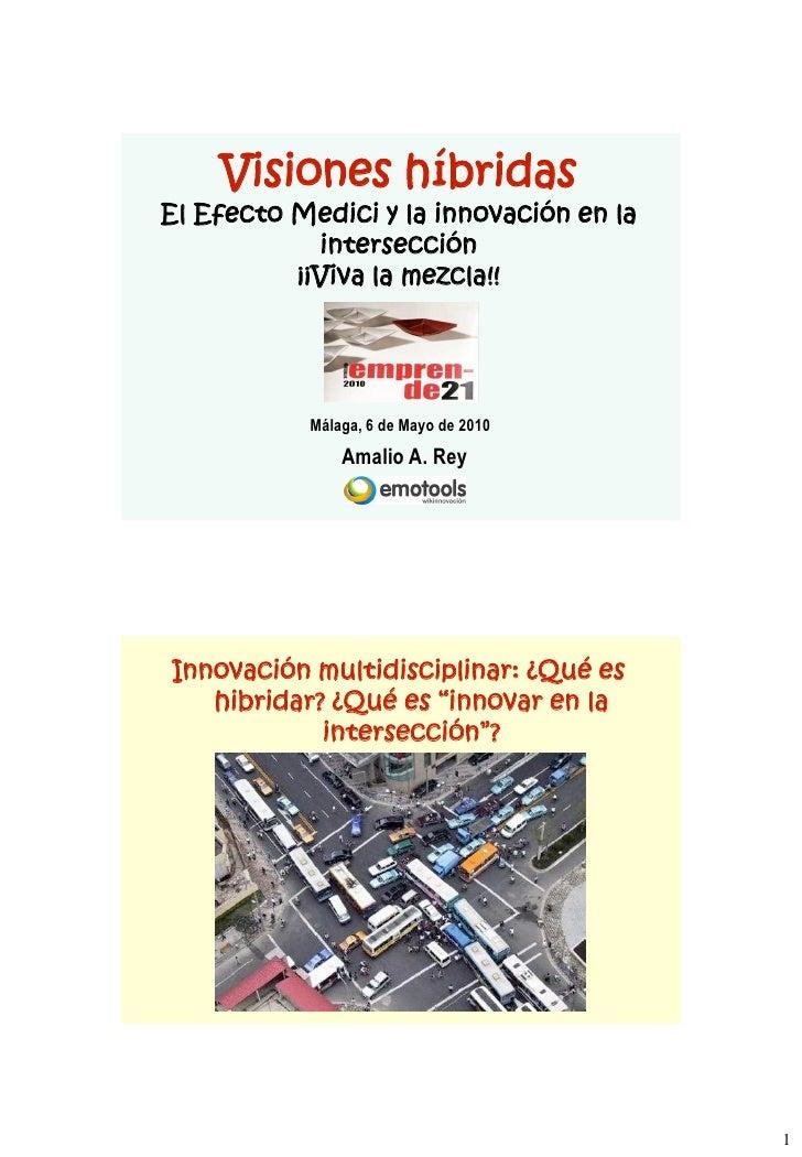Visiones híbridas El Efecto Medici y la innovación en la             intersección           ¡¡Viva la mezcla!!            ...