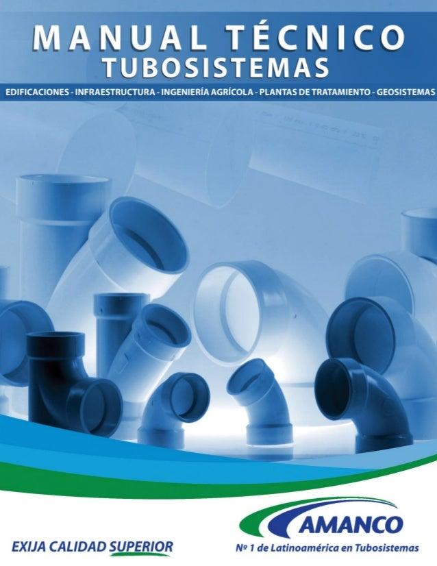 Tuberías plásticas  Manual técnico