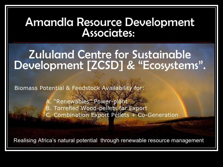 Amandla Renewables Bio Mass For Energy  22032010