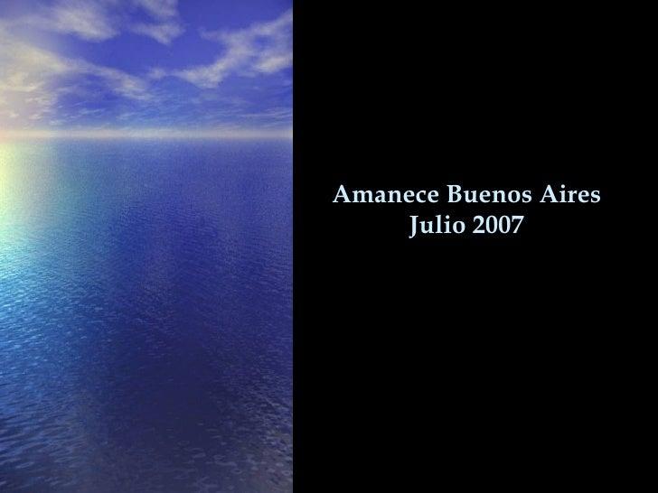 Amanece  Buenos Aires Julio 2007