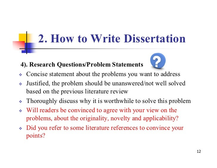 Literature Review For Dissertation