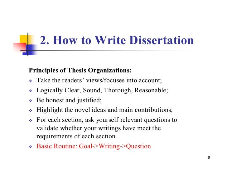 writing your phd dissertation