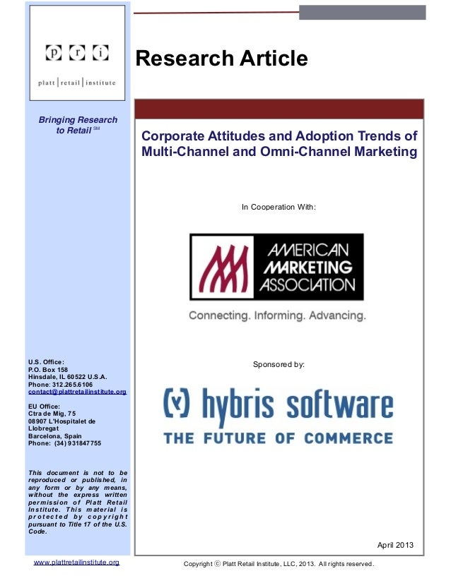 AMA_Corporate Attitudes and Adoption Trends of Multi-Channel and Omni-Channel Marketing