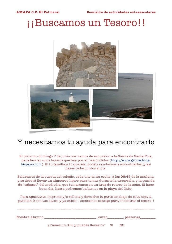 AMAPA C.P. El Palmeral                                           Comisión de actividades extraescolares           ¡¡Buscam...