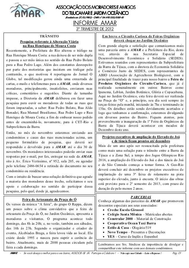 AMAR - INFORME do 3º Trimestre de 2012- páginas 01 a 04