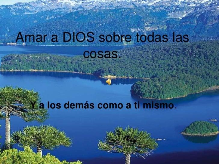 Amar A Dios Sobre Todas Las Cosas