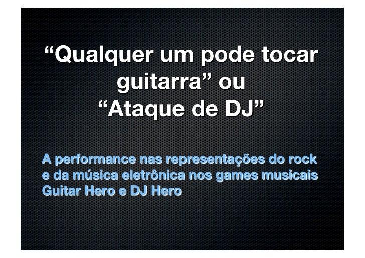 Amaral Guitar Hero DJ Hero