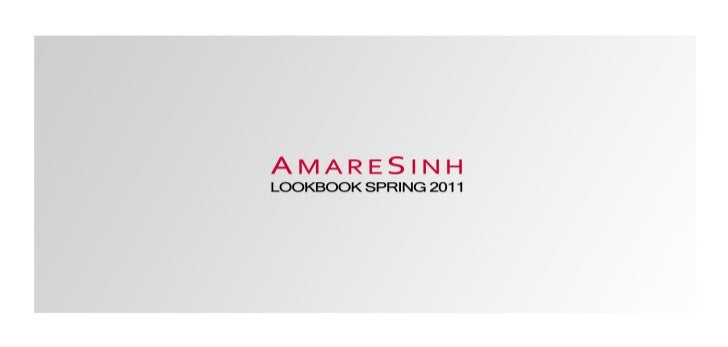 AmareSinh Lookbook Spring 2011