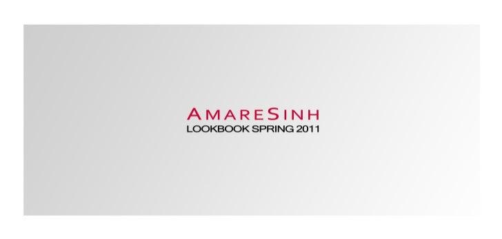 AmareSinh Lookbook Spring 2011