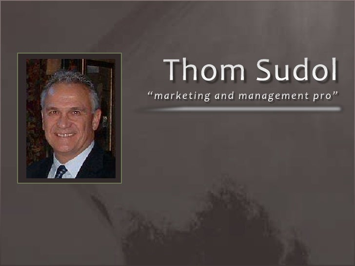 A Marketing And Management Pro