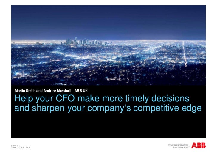 Effective reporting in SAP: Help your CFO make more timely decisions and sharpen your company's competitive edge