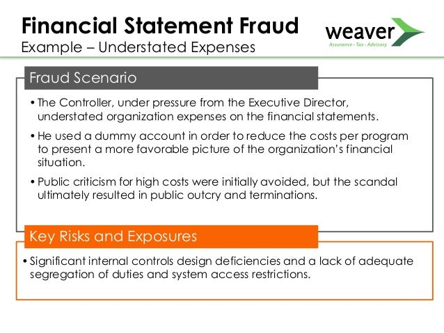 financial statement fraud lessons from the The very nature of investment fraud is to not raise any suspicion but for these 10 investment scams, the truth finally caught up with them.
