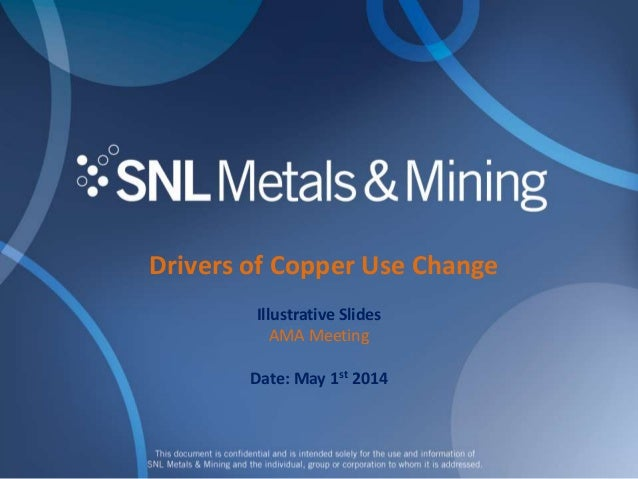 Drivers of Copper Use Change Illustrative Slides AMA Meeting Date: May 1st 2014