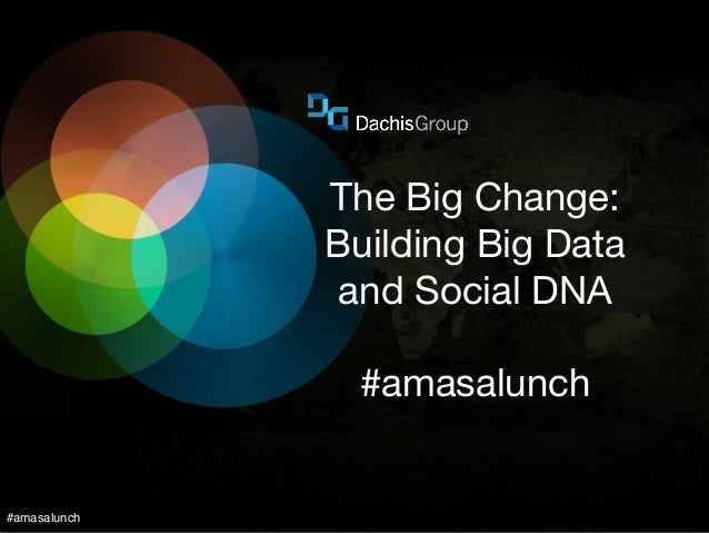 #amasalunch The Big Change: Building Big Data and Social DNA #amasalunch