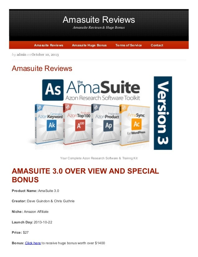 The Honest Amasuite New Version 3.0 - The way to increase passive income