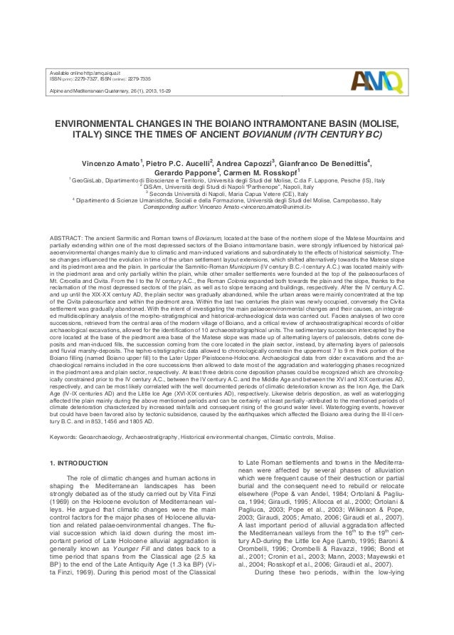 Available online http:/amq.aiqua.it ISSN (print): 2279-7327, ISSN (online): 2279-7335 Alpine and Mediterranean Quaternary,...
