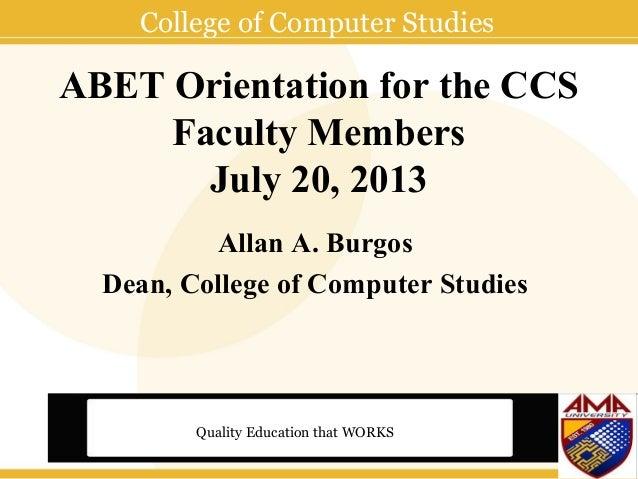 Amau ccs abet_orientation