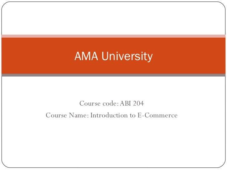 Ama university ec1
