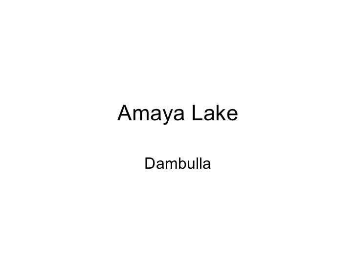 Amaya Lake, Dambulla - Sri Lanka