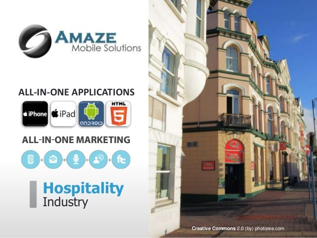 Mobile apps and marketing tools for the hospitality industry