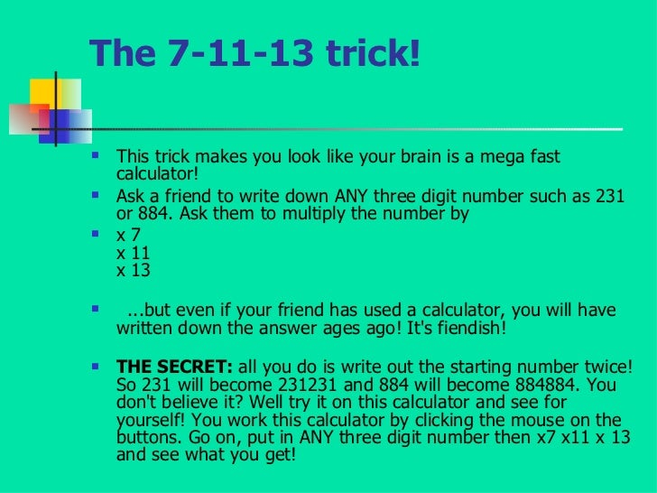 trick math problems Want to impress your friends with your arithmetic skills here's a list of simple math tricks you can use on a daily basis.