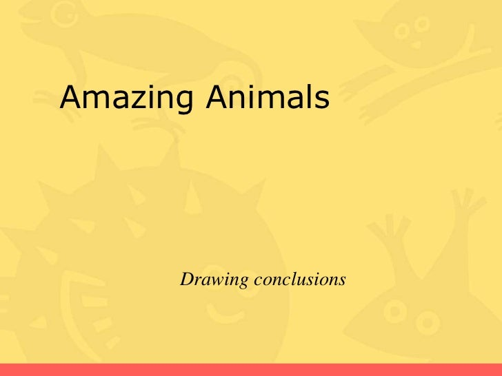 Amazing Animals      Drawing conclusions